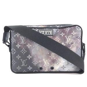 Alpha Monogram Galaxy Coated Canvas Messenger Bag